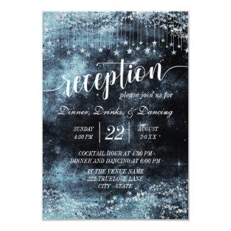 Cartão Recepção de casamento da galáxia da noite