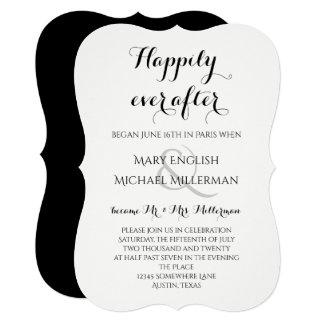 Cartão Recepção de casamento do cargo feliz sempre em