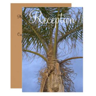 Cartão Recepção de casamento do destino da praia das
