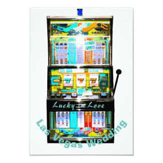 Cartão Recepção de casamento do slot machine RSVP