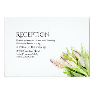 Cartão Recepção de casamento feita sob encomenda, tulipa
