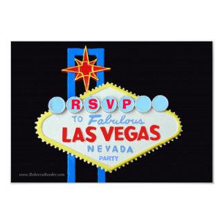 Cartão Recepção de casamento Las Vegas de RSVP