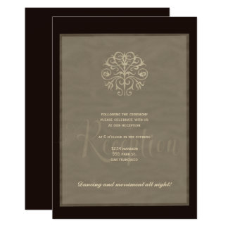 Cartão Recepção de casamento luxuosa elegante de prata