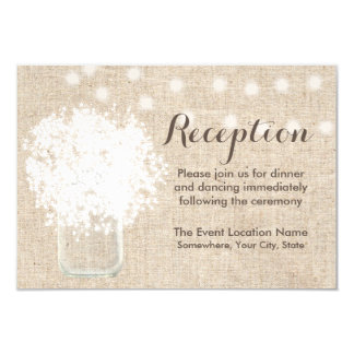 Cartão Recepção de casamento rústica do frasco de