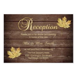 Cartão Recepção de casamento rústica elegante do país da