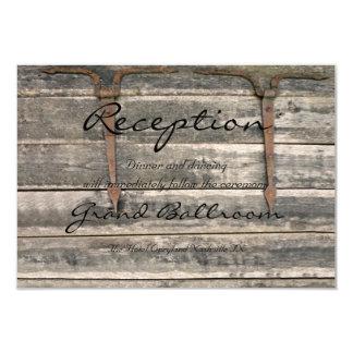 Cartão Recepção de madeira resistida