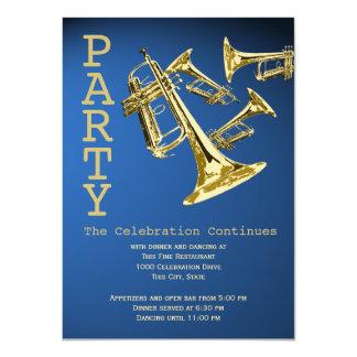 Cartão Recepção de Mitzvah do bar da música da trombeta