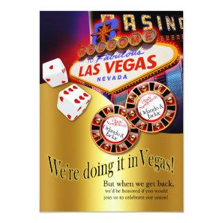 Cartão Recepção de Orlando & de Jackie Las Vegas