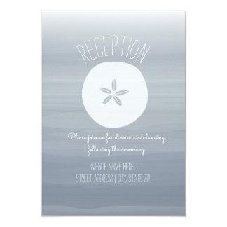 Cartão Recepção do Chambray do casamento de praia do