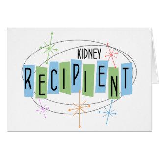 Cartão Receptor retro da transplantação do rim do design