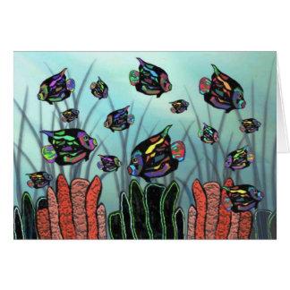 Cartão Recife de corais de néon do Angelfish