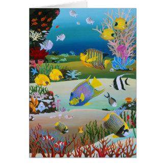 Cartão Recife de corais demasiado