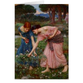 Cartão Recolhendo Rosebuds
