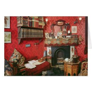 Cartão Reconstrução da sala de Sherlock Holmes