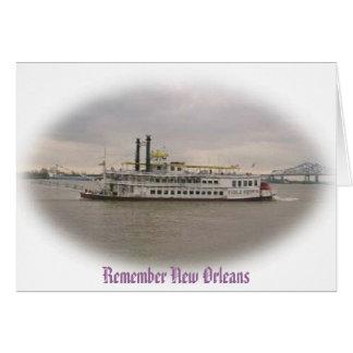 Cartão Recorde Crusing Nova Orleães