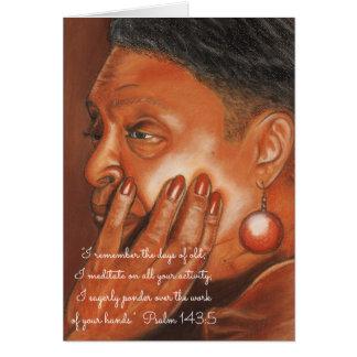 Cartão Recorde dias de Old~Meditate & de Ponder~Scripture