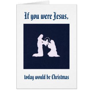 Cartão Recorde Jesus em seu aniversário
