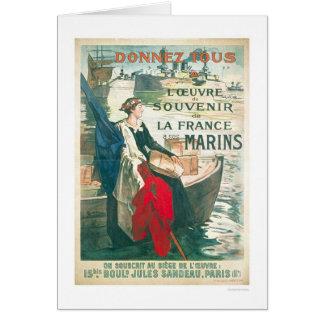 Cartão Recorde nossos marinheiros franceses - franceses