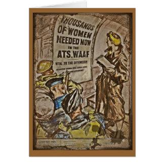 Cartão Recrutamento de WAAF