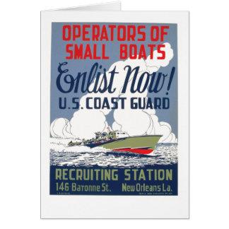 Cartão Recrute agora! E.U. Guarda costeira