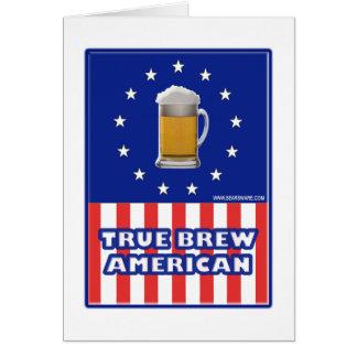 Cartão Rectifique o americano da fermentação