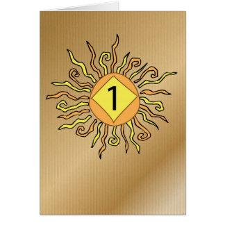 Cartão Recuperação 3526 um aniversário Sun de 1 ano
