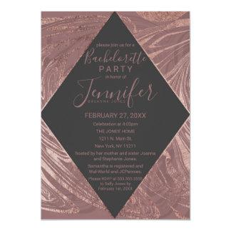 Cartão Redemoinho cor-de-rosa moderno Bachelorette do