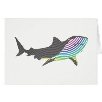 Cartão Redemoinho do tubarão da cor