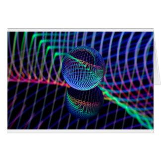 Cartão Redemoinhos e linhas na bola de vidro