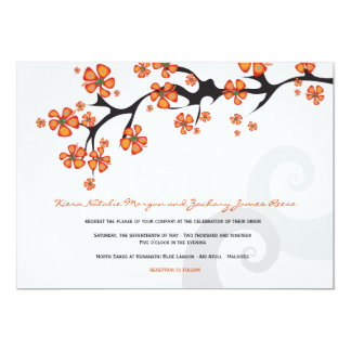 Cartão Redemoinhos tropicais da fusão da flor do hibiscus