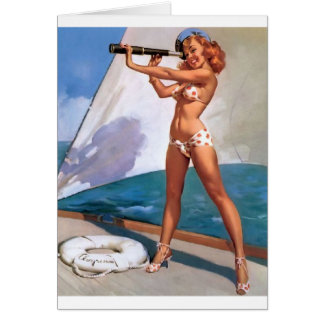 Cartão Redhead com Pin do Spyglass acima