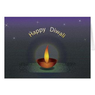 Cartão Redu do texto de Diwali três