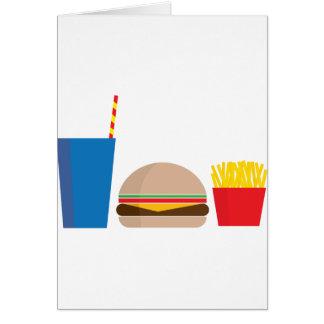 Cartão refeição do fast food