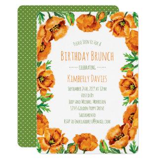 Cartão Refeição matinal alaranjada do aniversário do