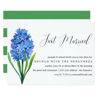 Cartão Refeição matinal azul do casamento do cargo do