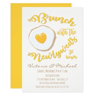 Cartão Refeição matinal com o casamento do cargo dos