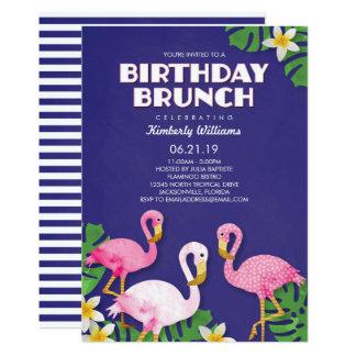 Cartão Refeição matinal cor-de-rosa do aniversário dos