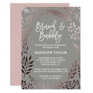 Cartão Refeição matinal cor-de-rosa elegante do ouro e