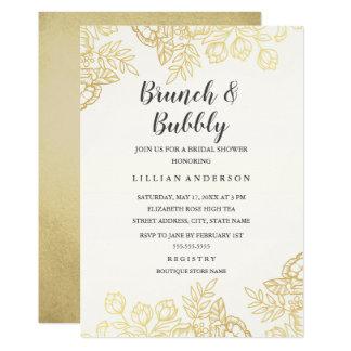 Cartão Refeição matinal do vintage elegante do ouro e