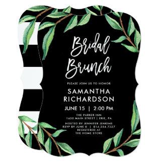 Cartão Refeição matinal | nupcial botânica listrada