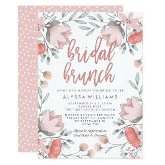 Cartão Refeição matinal nupcial das flores botânicas de