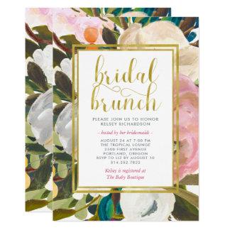 Cartão Refeição matinal nupcial floral delicada da