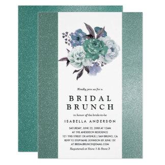 Cartão Refeição matinal nupcial floral do brilho