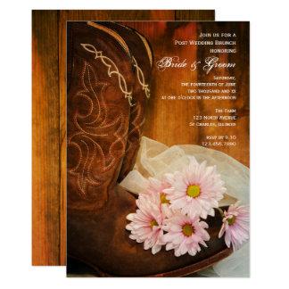 Cartão Refeição matinal ocidental do casamento do cargo