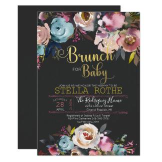 Cartão Refeição matinal para o bebê - flores do primavera