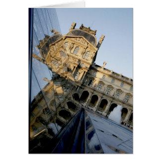 Cartão Reflexão 01 do Louvre