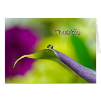 Cartão Reflexão da gota da Você-água do obrigado