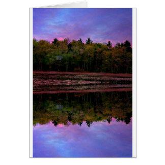 Cartão Reflexão da manhã