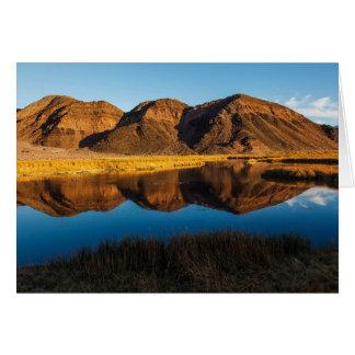 Cartão Reflexão das colinas do íbex