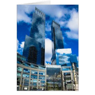 Cartão Reflexão do céu fora dos arranha-céus NYC